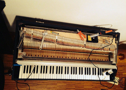 A Fender Rhodes Mark II was restored and recorded.