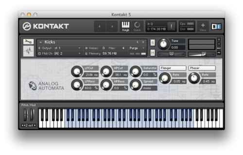 Analog Automata Kontakt Instrument Screenshot