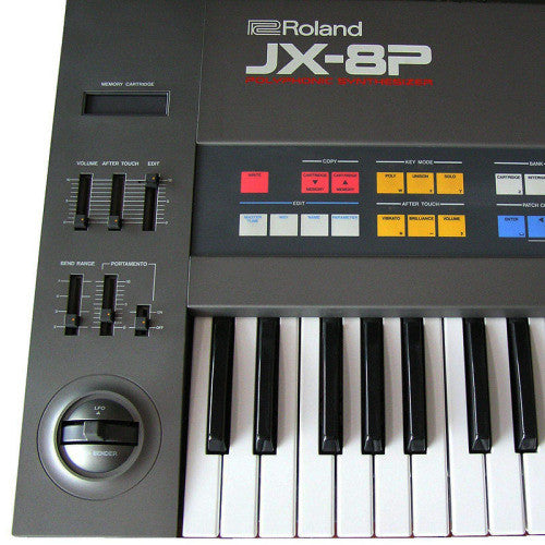 Jax was sampled from an original Roland JX-8P Synthesizer.