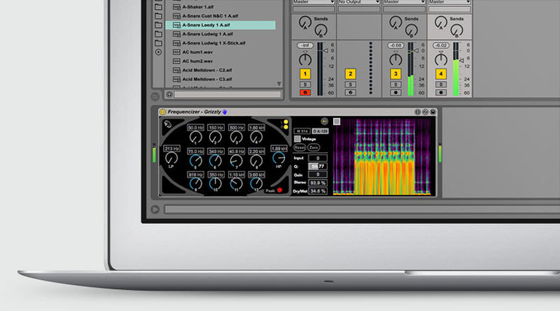 The Frequencizer Ableton Live Pack interface