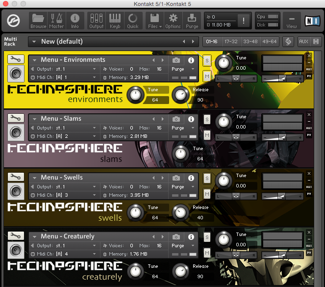 The Technosphere Kontakt KSP interface
