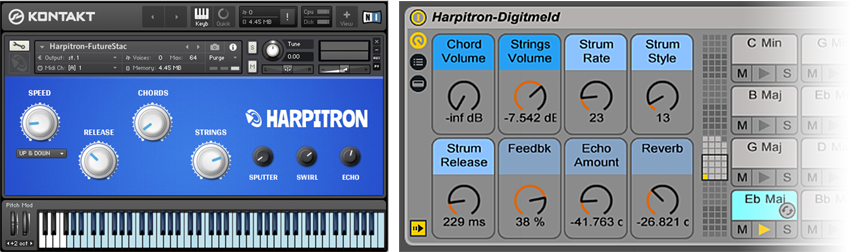 The Harpitron Ableton Live Pack and Kontakt Interface
