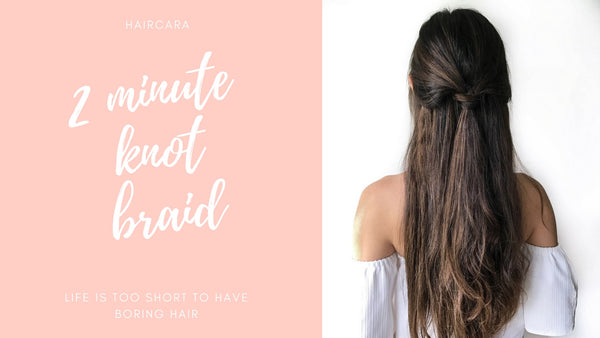 How to tie a Knot Braid in 2 minutes
