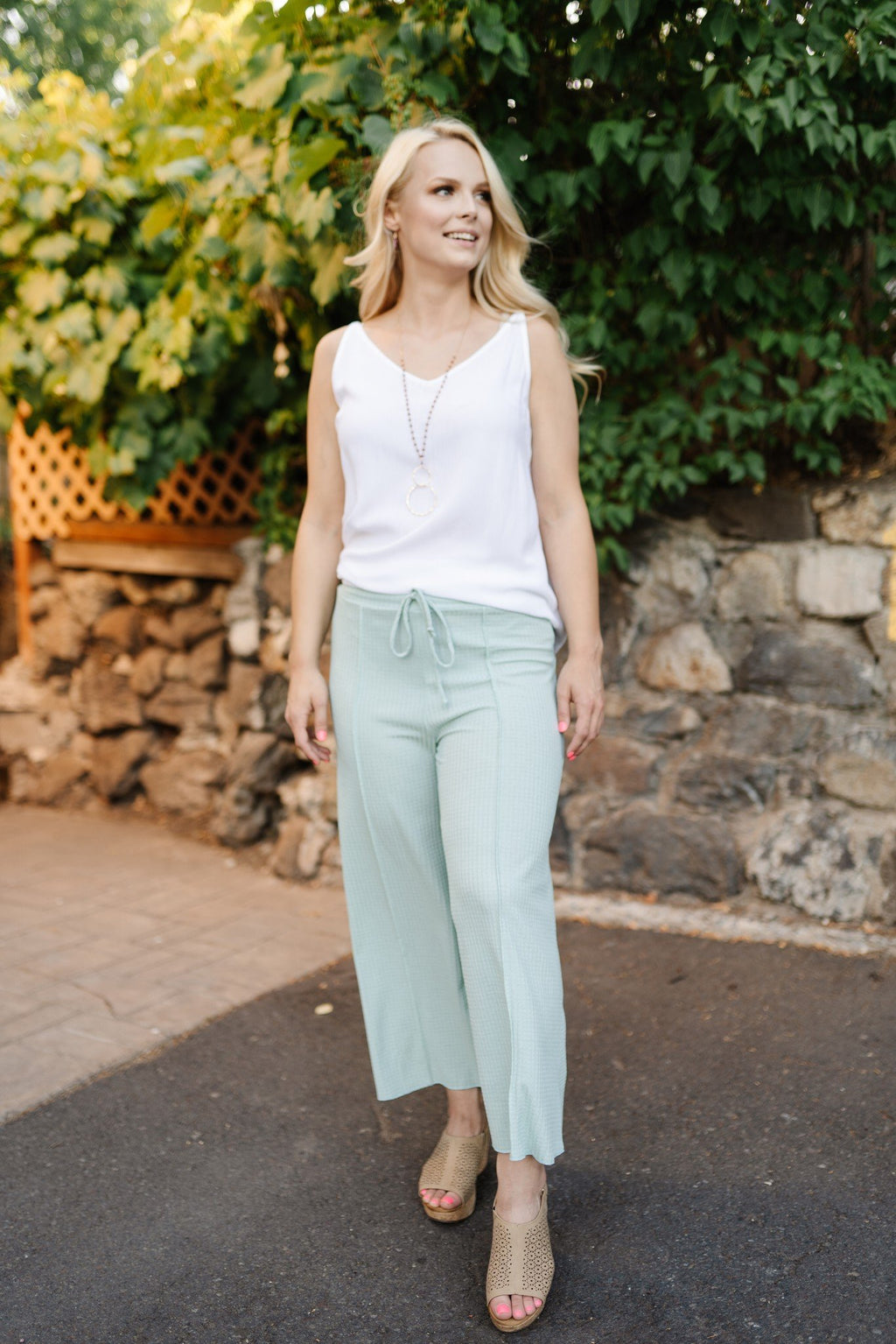 Minted in Summer Palazzo Pants