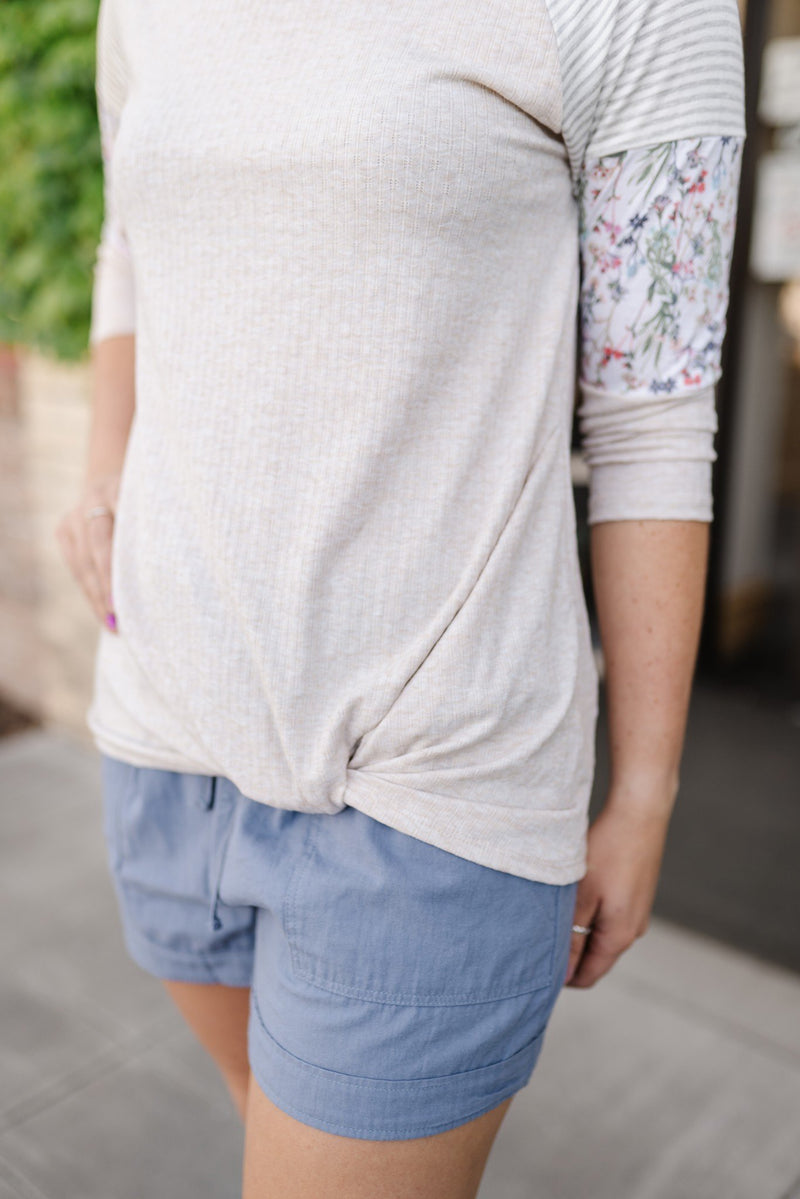 Summer Garden Tunic in Oatmeal