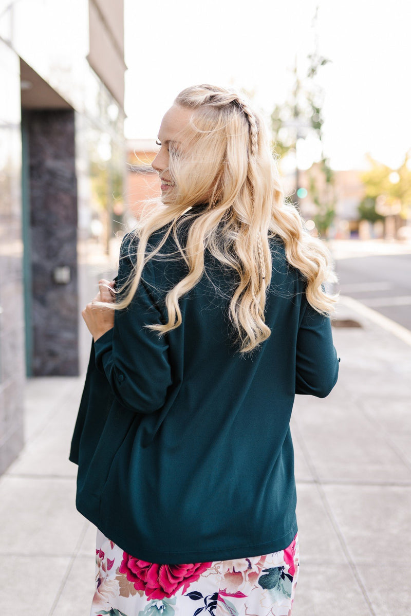 A Cut Above The Rest Blazer In Hunter Green