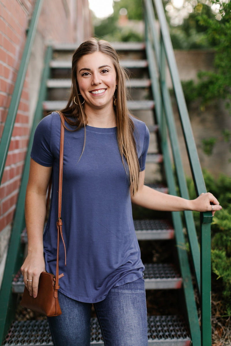 Everyday Basic Coal Blue Top