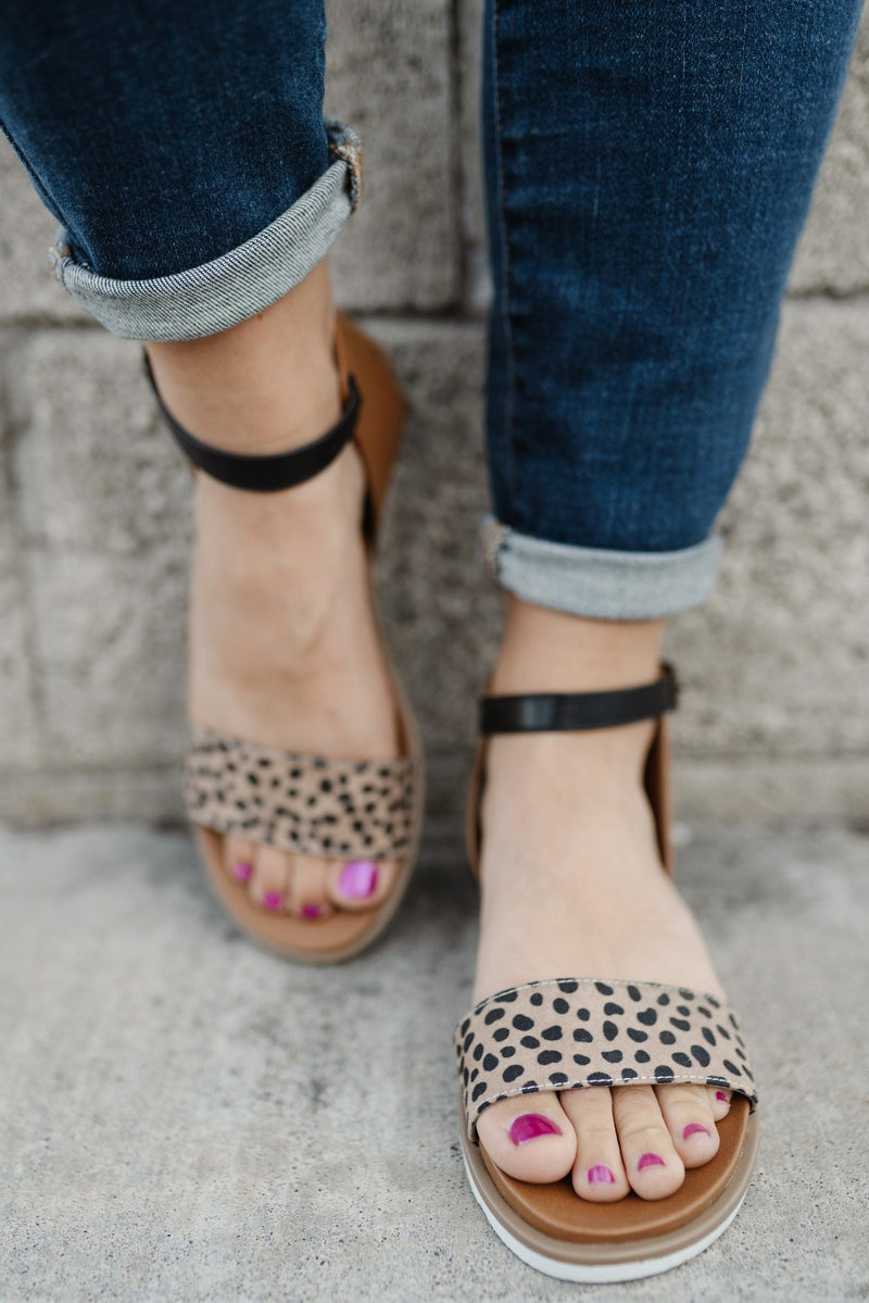 Starling Leopard Sandals