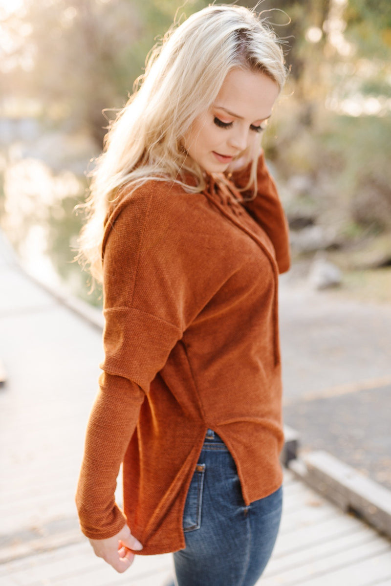 Cheers To Fall Sweater In Rust