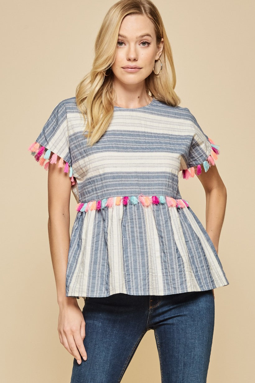 Baby Doll Peplum Top
