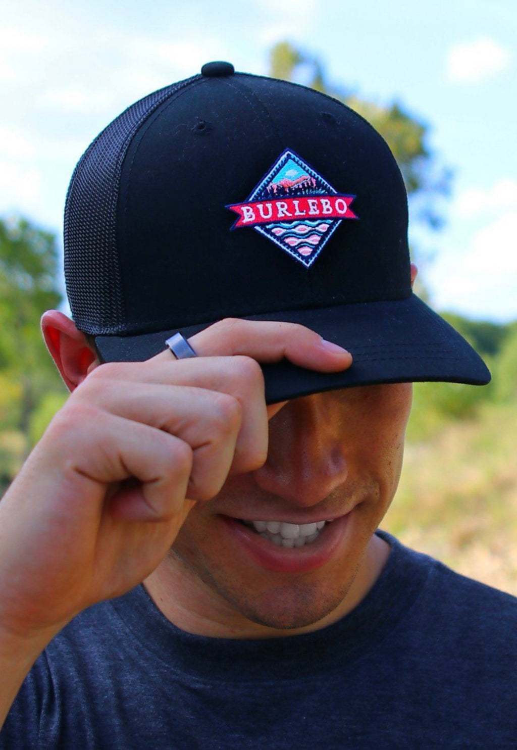 Men's Black Signature Logo Cap