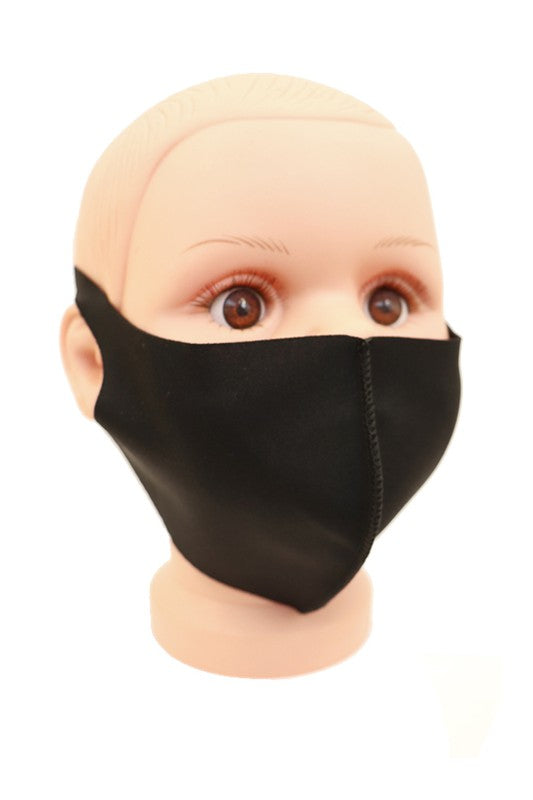 Youth Black Face Mask