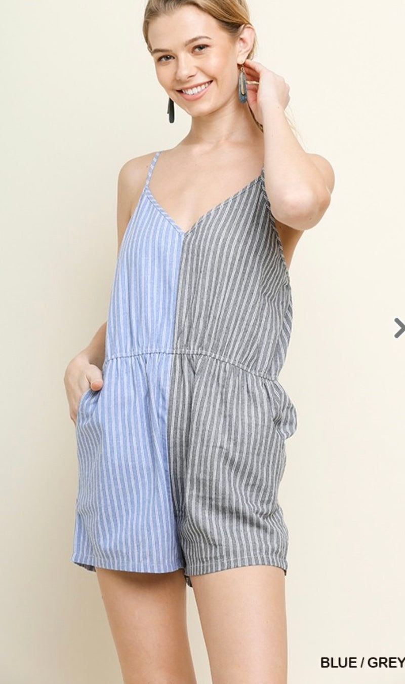Cheyenne Striped Romper by Umgee