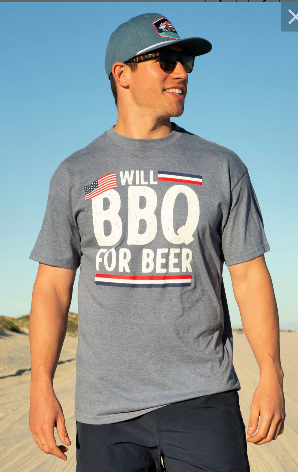 Men's BBQ For BEER Tee