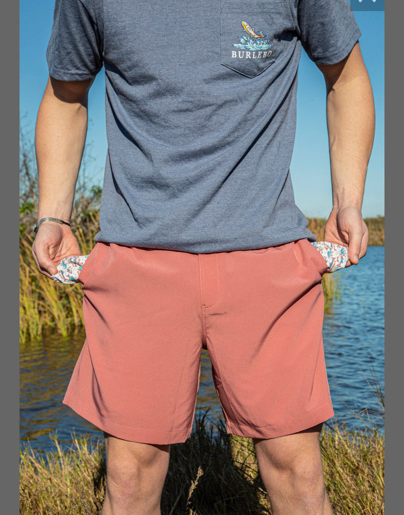Men's Red Clay - Fish Pockets