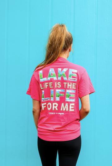 Lake Life Is Life For Me (Heliconia Heather) - Short Sleeve/Crew