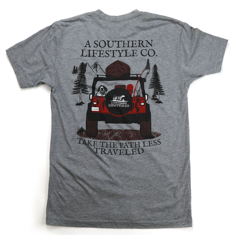 Men's PATH LESS TRAVELED JEEP TEE