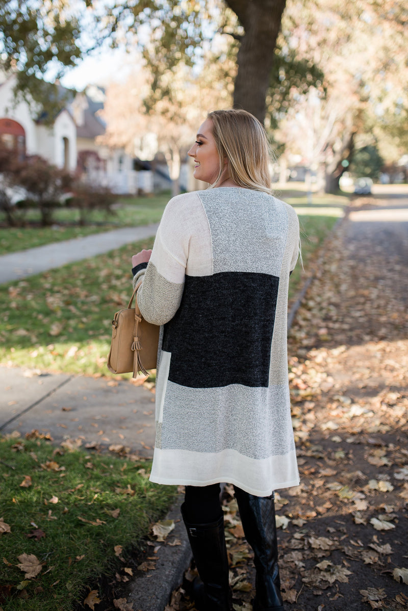 Round The Block Cardigan In Earth Tones