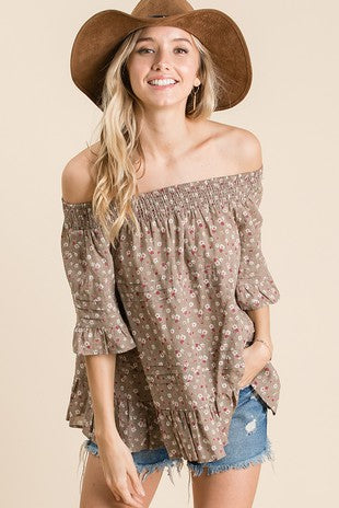 Flower Child Ruffle Top