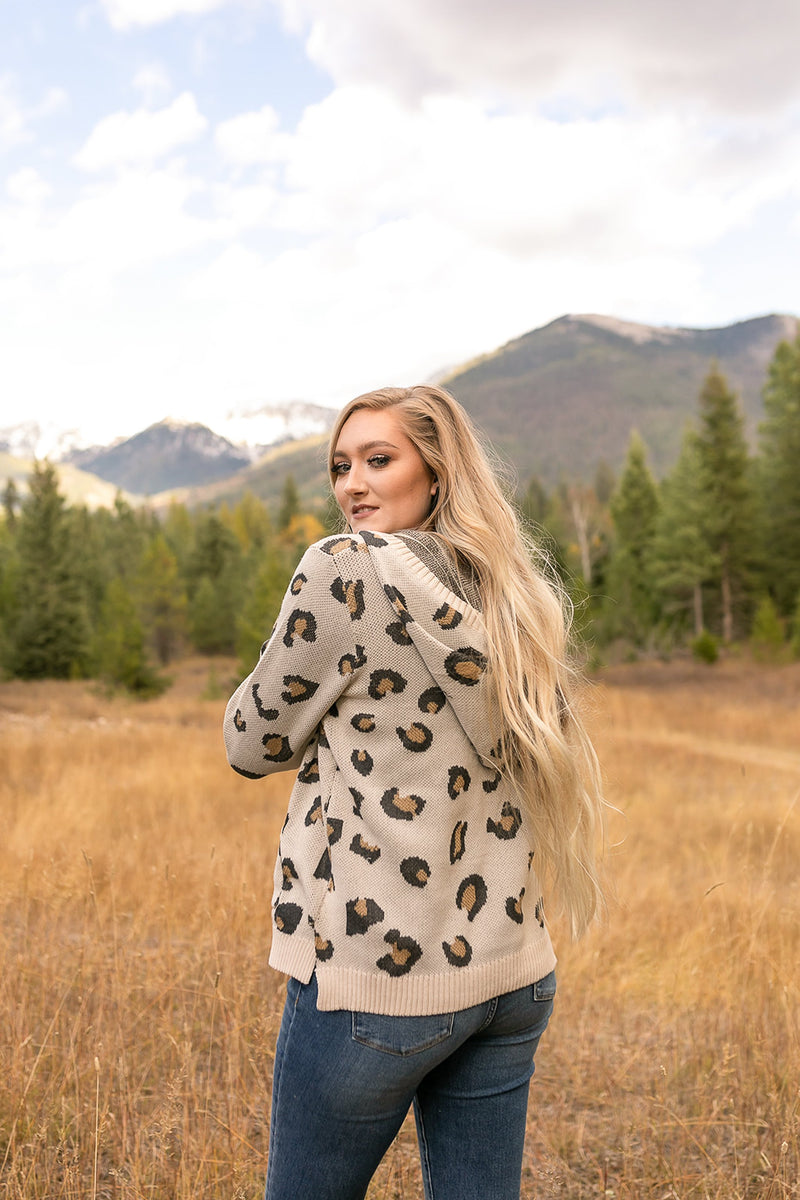 Whole Situation Leopard Sweater In Natural