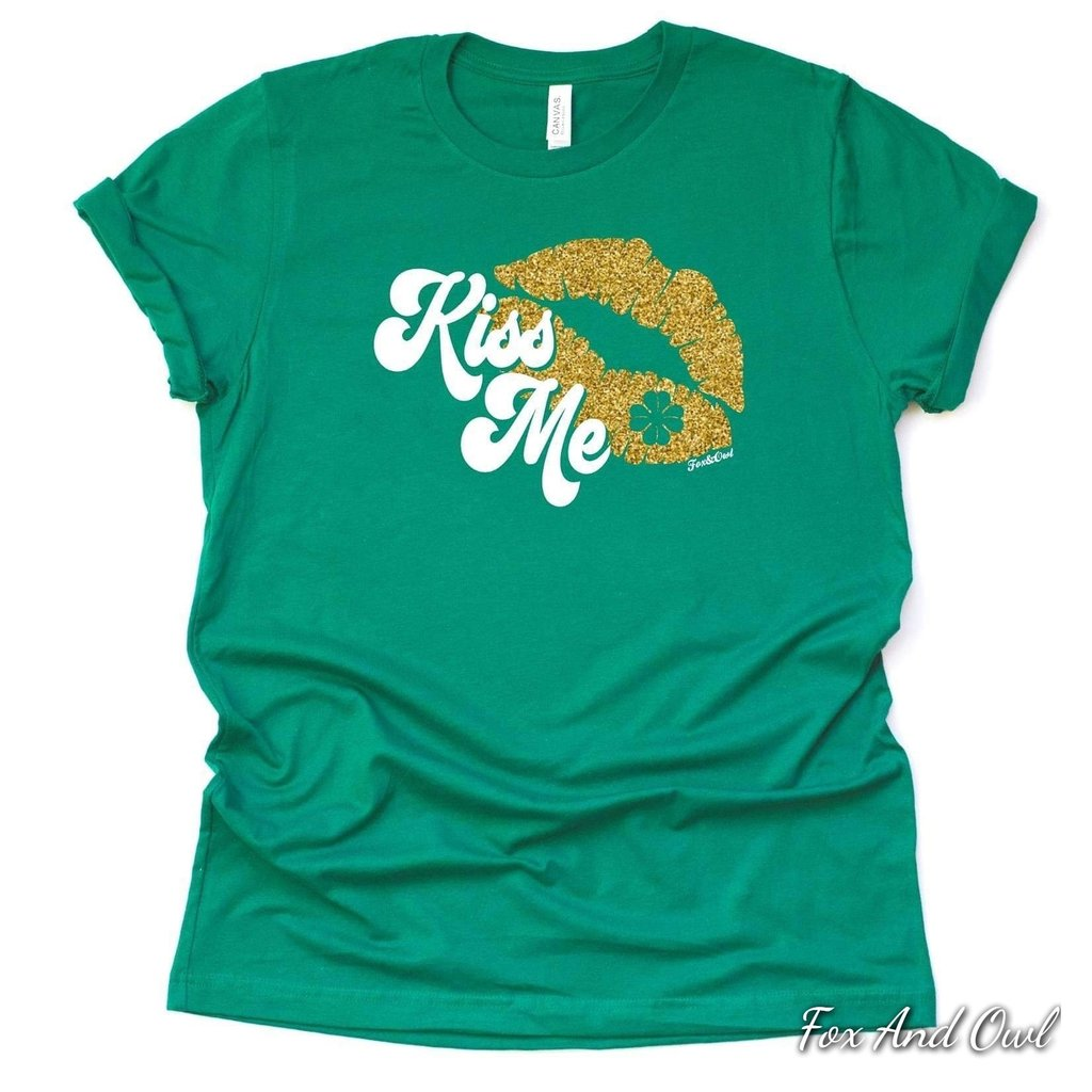 Green Kiss Me Tshirt