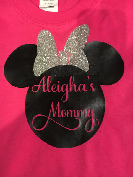 Birthday girl's mommy or daddy shirt