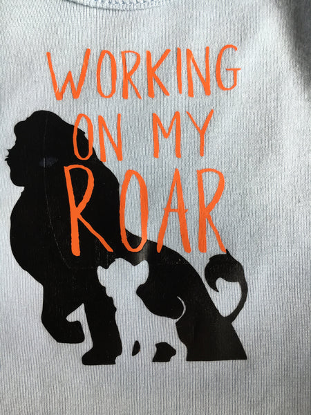 Working on my roar shirt
