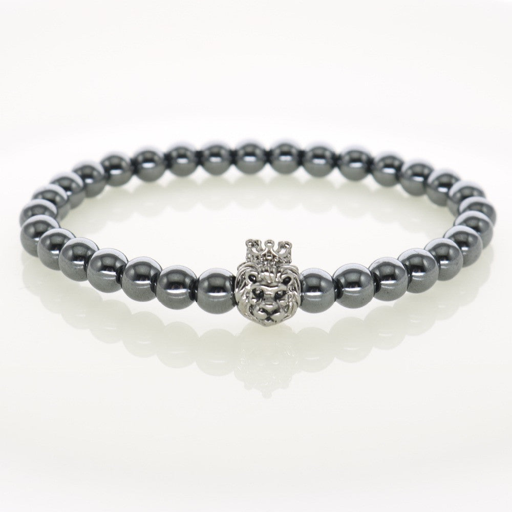 Silver beads lion