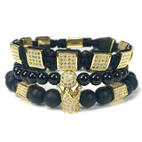 """Konan"" 18K Gold Plated Crown bracelets set"
