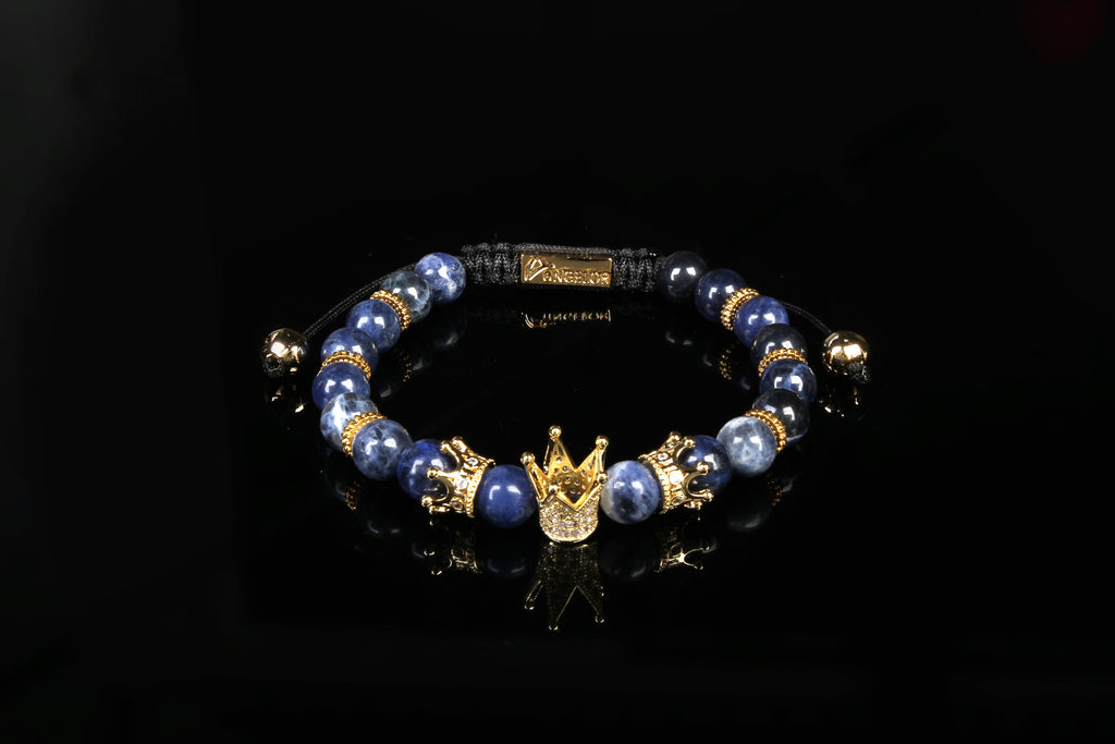 """Arctic"" Gold Plated Crown Bracelet"