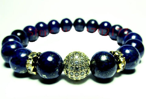 """Marine"" Blue Beaded Zircon Bracelet"