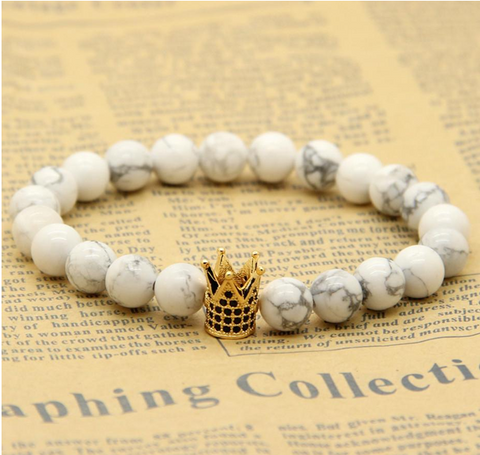 Latest Crown Bracelet - Ceramic White