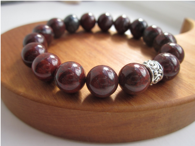 Brick Brown Silver Bracelet