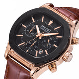 Flash Chronograph Luminous Quartz Watch brown & gold