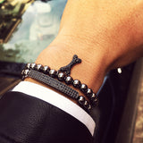 Evan Bars Obsidian Bracelet black zircon 1