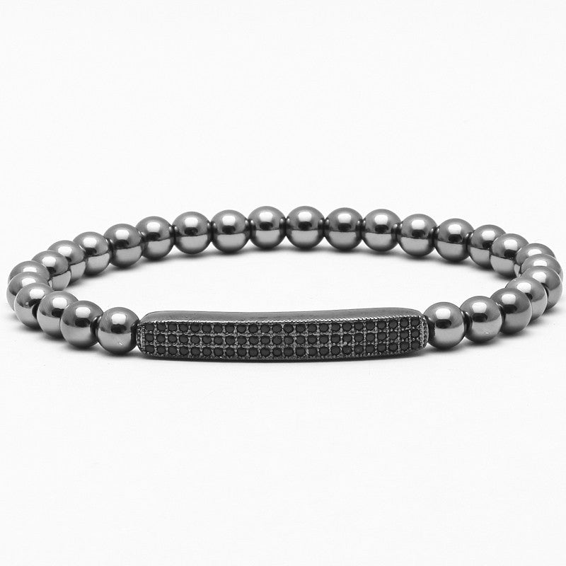 Evan Bars Obsidian Bracelet black zircon 2