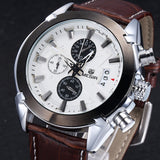 Attitude Chronograph Casual Watch brown white 2