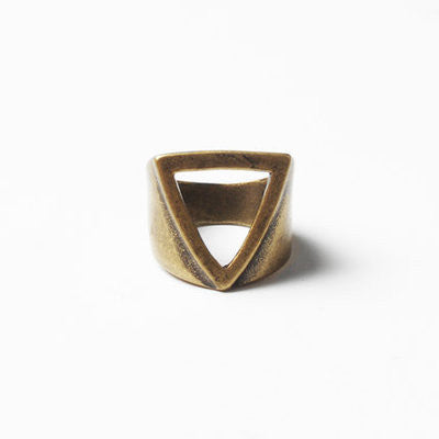 Geometry Ring retro gold 1