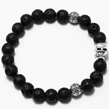 Lava North skull Volcanic rocks Beaded Bracelet 1