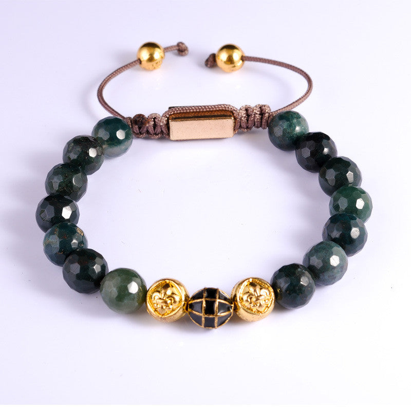 Bob Green Agate Golden Stone beaded Bracelet 2