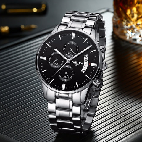 Luxury Military Quartz Wristwatch