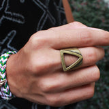 Geometry Ring retro gold