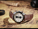 Attitude Chronograph Casual Watch brown white 1
