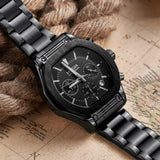 Flash Chronograph Luminous Quartz Watch black 2