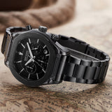Flash Chronograph Luminous Quartz Watch black 1