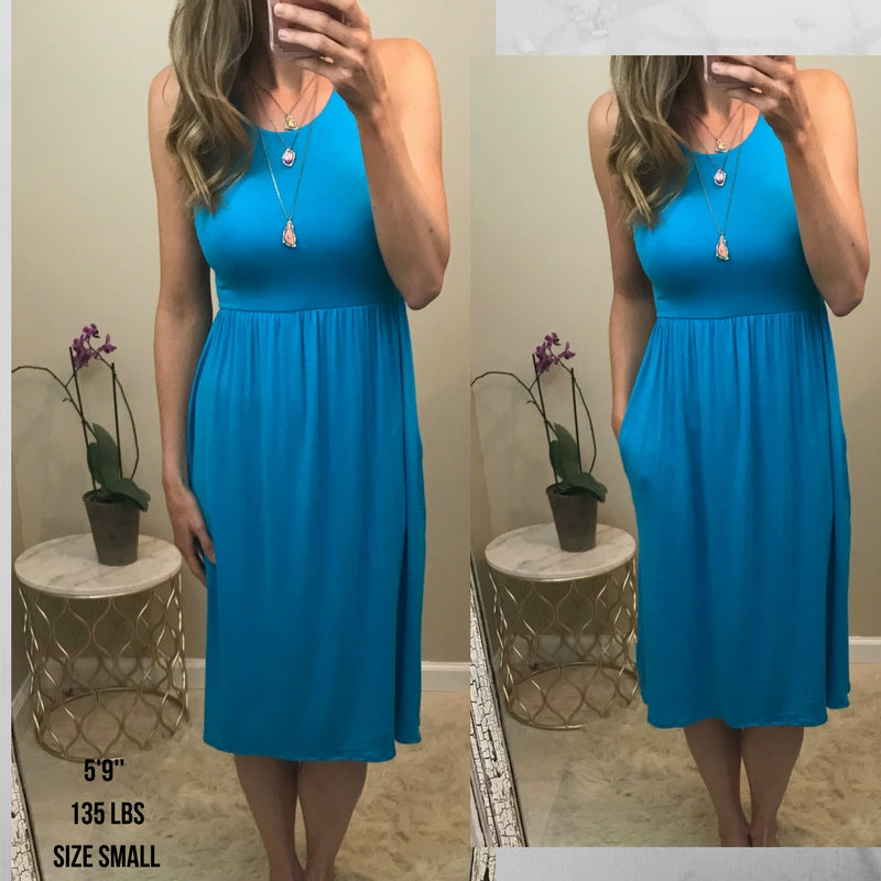 Maci:  Favorite Racerback Midi Dress by Bellamie