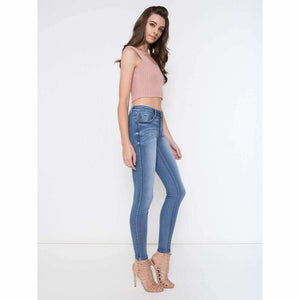 Michelle:  Light Wash Denim Jeans by KanCan USA