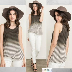 Peg: Ombre Striped Sleeveless Top by Mystree (Premier Brand)