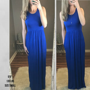 Amy:  Racerback Maxi Dress by Bellamie