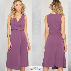 Bella: Purple Modal Dress by She + Sky